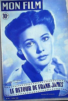 FILM- 93-LE RETOUR DE FRANK JAMES-HENRY FONDA-HENRY HULL-JACKIE COOPER