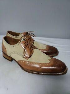 Mezlan Custom Leather Suede Wingtip