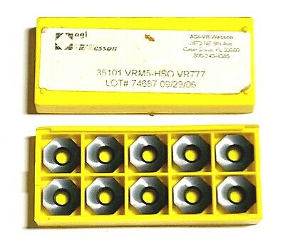 VR WESSON VRM5-NP-0 OELB060416N New Carbide Inserts Grade VR772 10pcs O