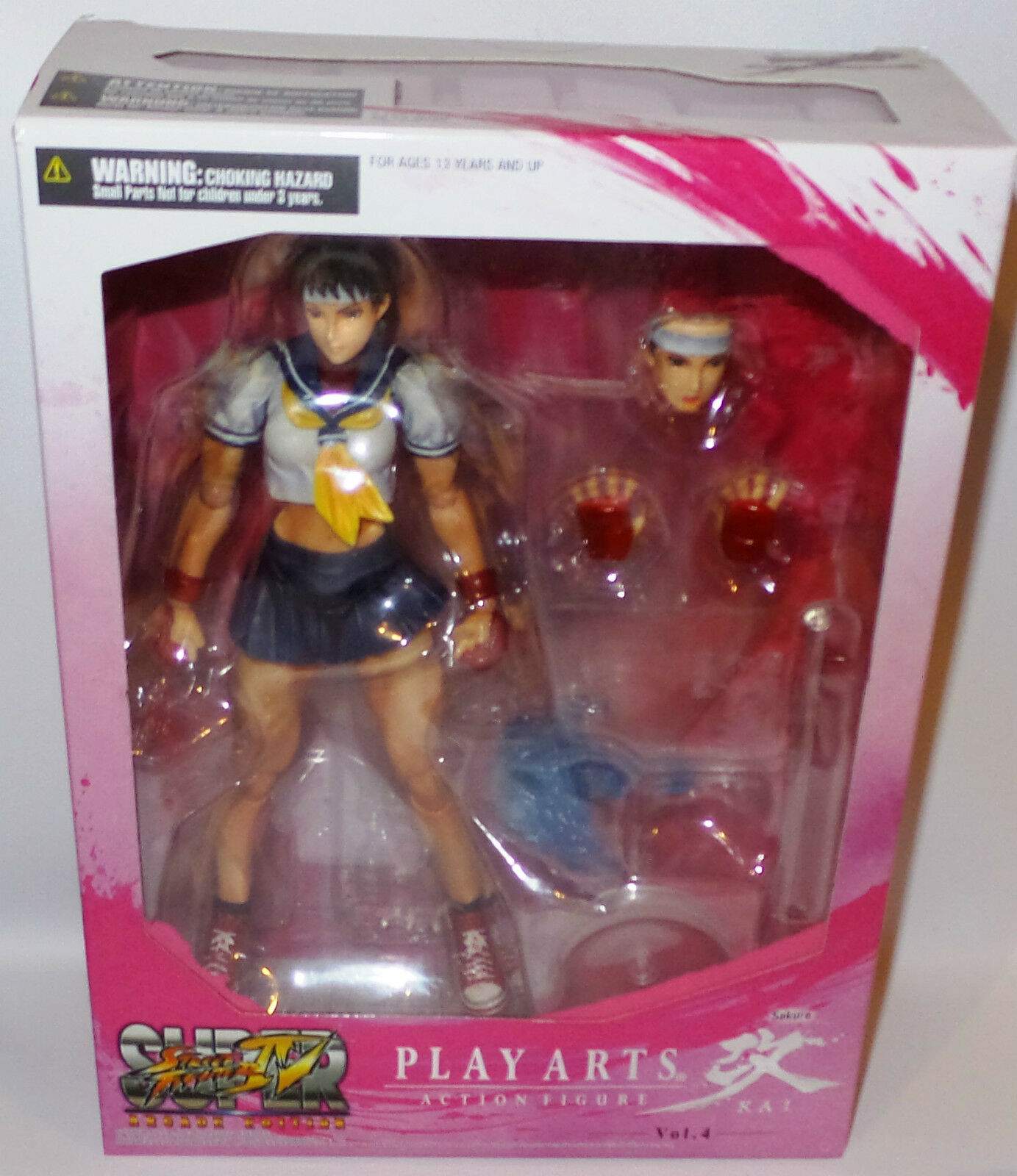 STREET FIGHTER : SAKURA ACTION FIGURE MADE BY SQUARE ENIX. PLAY ARTS. (TK)