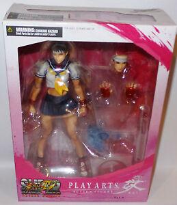 Street Fighter: Figurine Action Sakura Fabriquée par Square Enix.   Jouer aux arts.   (tk) 662248813189