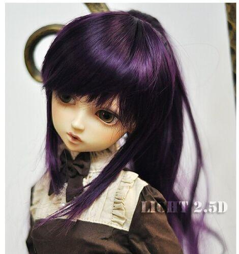 Bjd Doll Wig 1//3 8-9 Dal Pullip AOD DZ AE SD DOD LUTS Dollfie purple Toy Hair