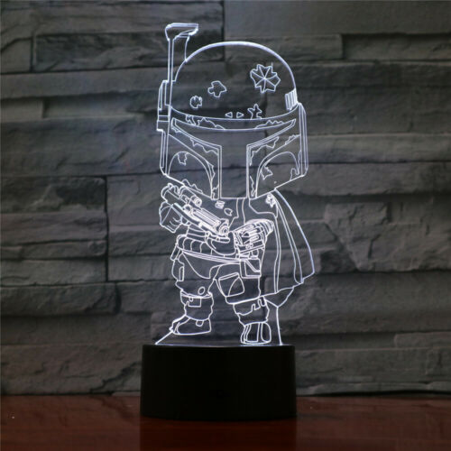 Boba Fett Star Wars 3D Acrylic LED Night Light Touch Table Desk Lamp Gift