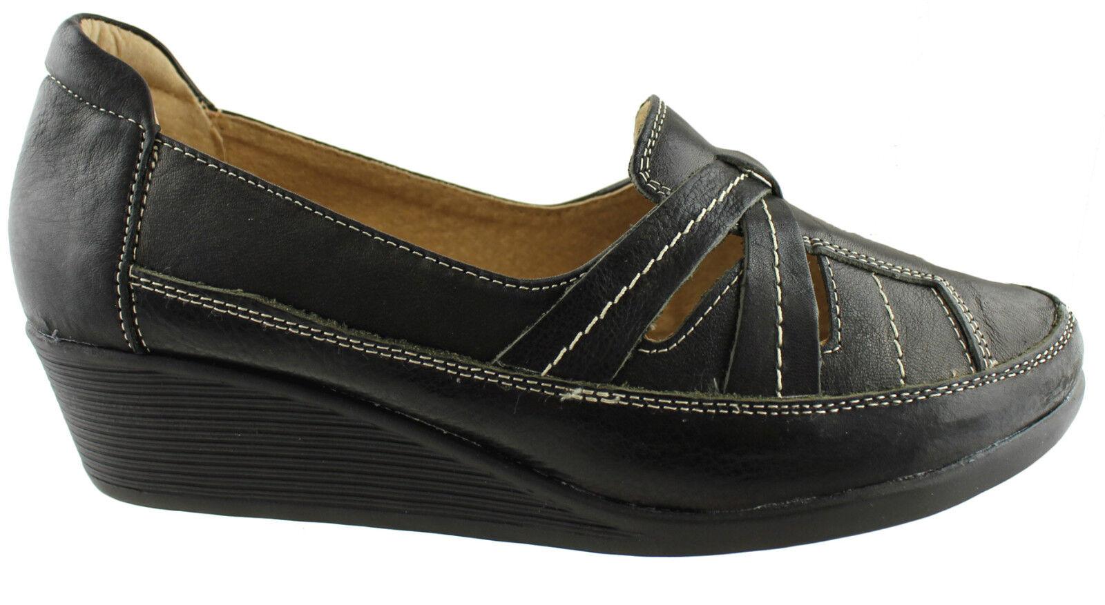 Cojín Cuña confort Carie Mujer/ladies Cuña Cojín confort Zapatos/casuals/slip Ons 891445