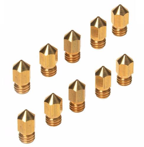 10Pcs 0.4mm Brass Extruder Nozzle Print Head for MK8 Makerbot Reprap 3D Printer