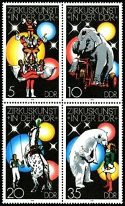 EBS-East-Germany-DDR-1978-Circus-Art-in-the-GDR-I-Michel-2364-2367ZD-MNH