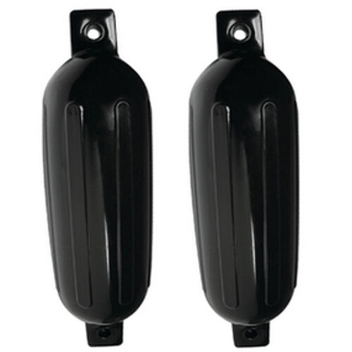 2 Pack 8-1//2 Inch x 27 Inch Double Eye Black Inflatable Vinyl Fenders for Boats