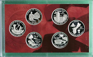 2009-Proof-90-Silver-Quarter-Set-DC-and-US-Territories-6-COINS-ONLY-No-Box
