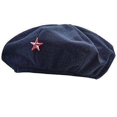 Erwachsene Schwarz Kubanisch Herren Revolutionist Zubehör Che Guevara Kostüm Hut
