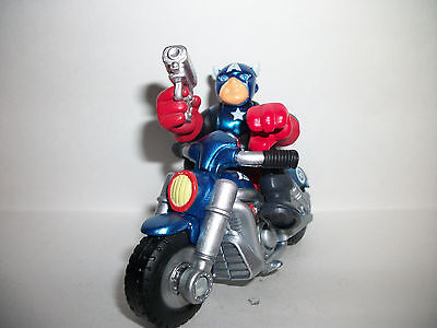 Marvel Super Hero Squad CAPTAIN AMERICA /& MOTORCYCLE Variant Bike w Star Wings