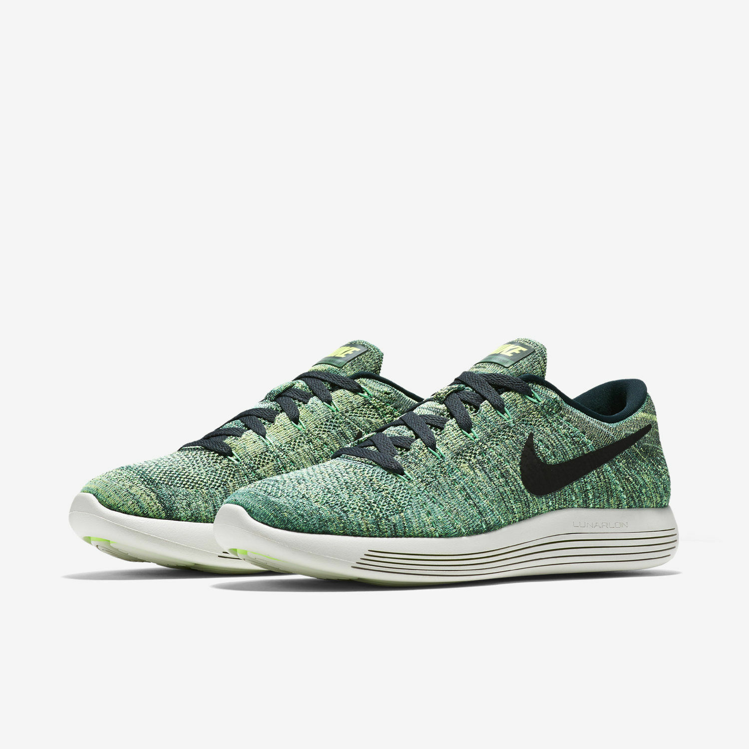 Men's Nike LunarEpic Low Flyknit Running Seaweed Green   Black Sz 9 843764 300