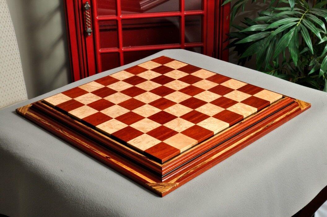 Firma contemporáneo tablero de ajedrez-Bloodwood arce ojo de pájaro - 2.5  Plaza