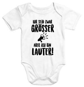 Kurzarm Baby-Body mit Aufdruck Mädels hier bin ich lustig Spruch Strampler