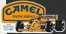 CAMEL RACING SERVICE AYRTON SENNA LOTUS 99T ORIGINAL PERIOD STICKER AUTOCOLLANT