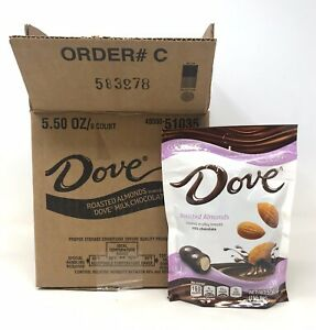 CASE-OF-8-Dove-Milk-Chocolate-Covered-Roasted-Almonds-5-5-oz-ea-FREE-SHIP