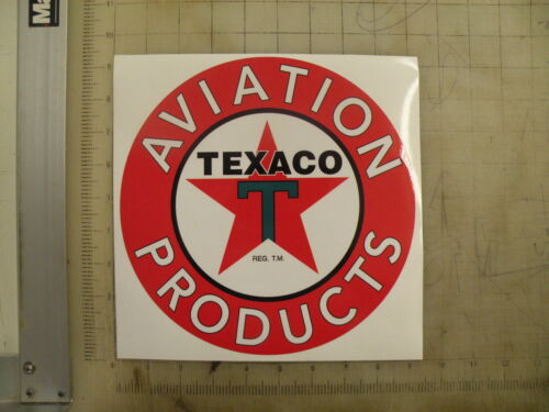 "Vintage Texaco Aviation Products sticker 9/"" diameter"