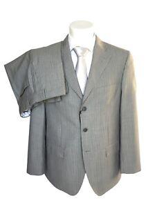 store ampia selezione di design qualità eccellente Dettagli su Abito uomo sartoriale CONFITALIA, grigio chiaro gessato DROP 6  in lana merinos.
