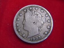 1907 FIVE CENT COIN FROM THE UNITED STATES FROM MY COLLECTION [J80]