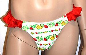 CréAtif Bip Bip Slip Bikini 1 Piece Taille Xl/fr44/eu42 Couleur Blanc & Rouge 'renoir' Sang Nourrissant Et Esprit RéGulateur