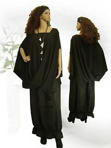 L Design Long Poncho Lagenlook Poco Jacke Überwurf shirt Tunika xxxl xl xxl BCqAZ