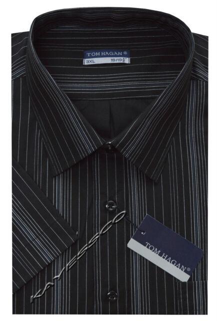 Mens King Size Short Sleeve Striped Summer Shirt 3XL - 6XL By Tom Hagan