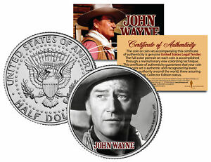 JOHN-WAYNE-MOVIE-Fort-Apache-JFK-Kennedy-Half-Dollar-US-Coin-LICENSED