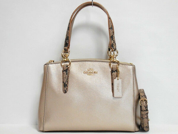Coach F55515 Mini Christie Carryall Satchel Handbag Purse Bag Platinum Ebay