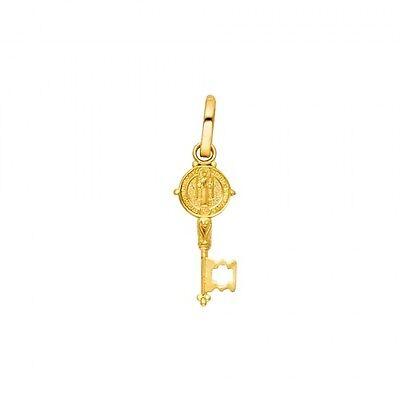 14K Yellow Gold Key Religious Charm Pendant GJP831