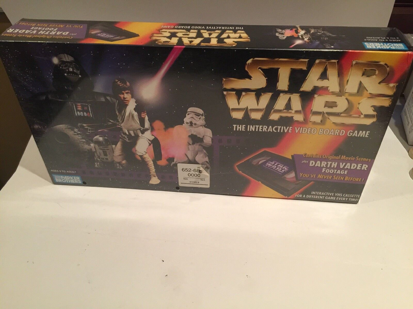 STAR WARS Interactive Video BOARD GAME Parker Bros 1996.New   Rare   Sealed