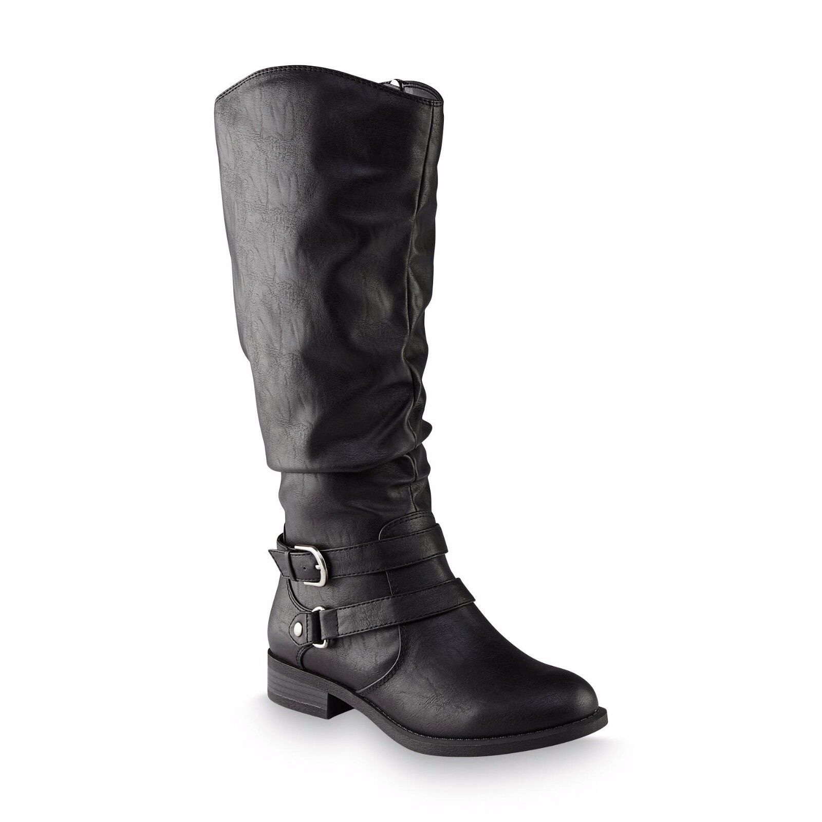 Jaclyn Smith Women's  Erica Black Riding Boots shoes Size 8 Medium