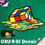 Luggage Guitar Skateboard Laptop Melting Psychedelic Rubik Cube Sticker Decal