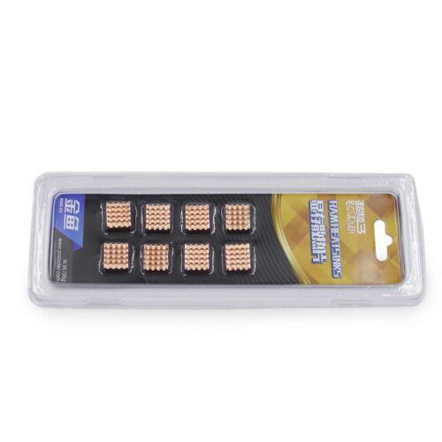8pcs 13mm*12mm Copper Heatsink for Memory RAM DDR DDR2 DDR3 GPU VGA XBOX Cooling