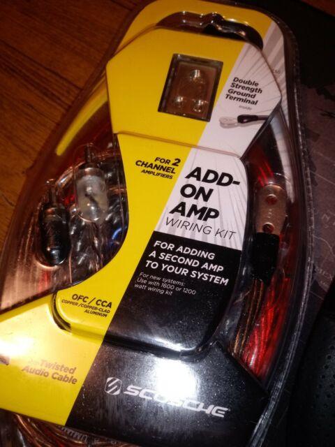 Scosche Dual Amp Add On Wiring Kit 1600 Or 1200 Watt Wiring Diagram
