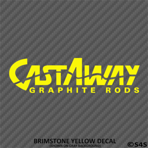 Choose Color Castaway Graphite Fishing Rods Decal Outdoors Sports /& Hunting