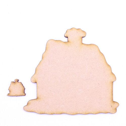 3mm Corte Láser De Madera Mdf Formas Diferentes Tamaños-Navidad Cottage