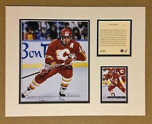 Calgary-Flames-THEOREN-FLEURY-1994-NHL-Hockey-11x14-MATTED-Lithograph-Print