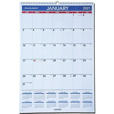 2021 At-A-Glance PM3-28 Monthly Wall Calendar 15-1/2 x 22 ...