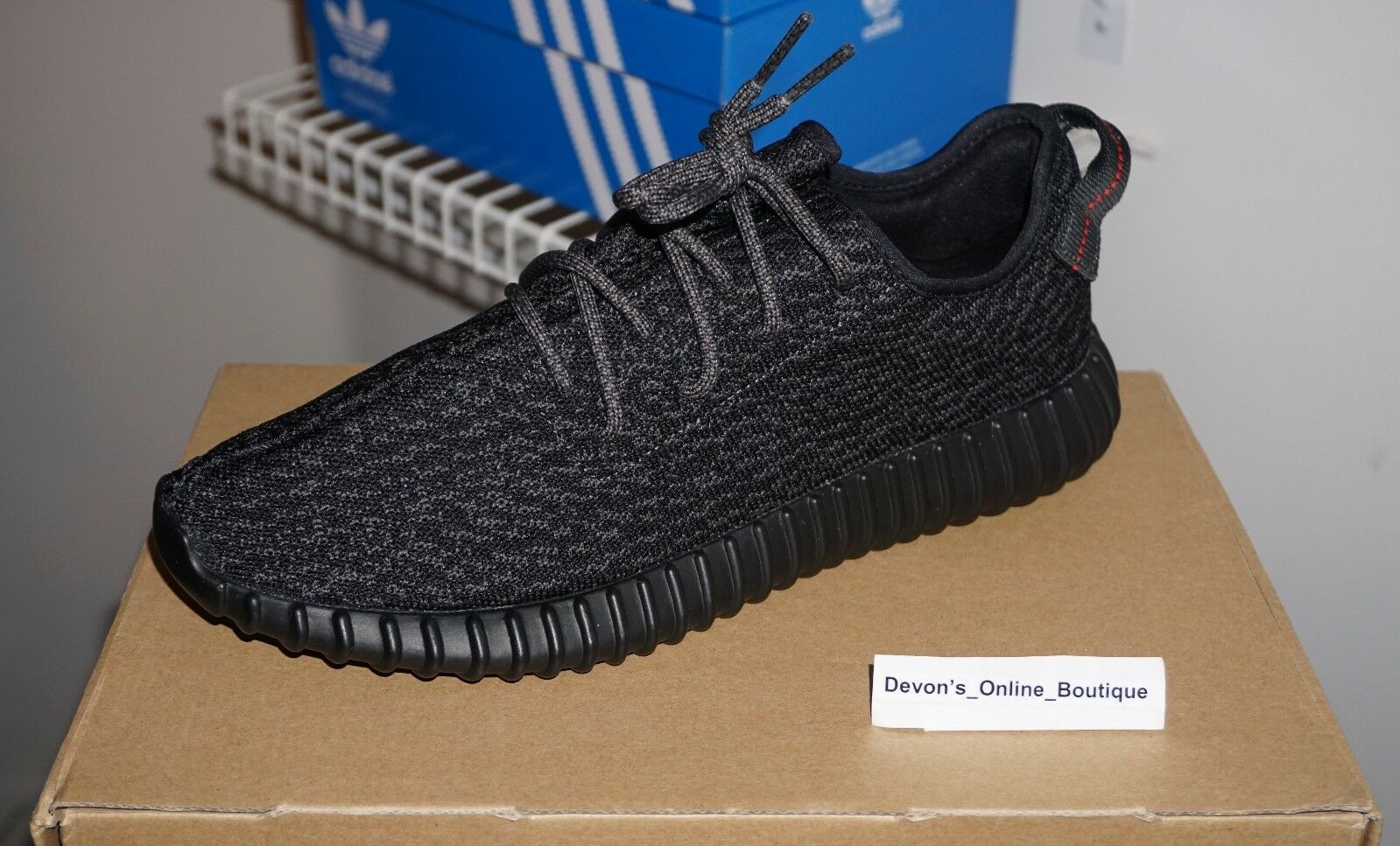 YEEZY BOOST 350 'Pirate Black 2016' - Size 11, VNDS, BB5350, TRUSTED SELLER