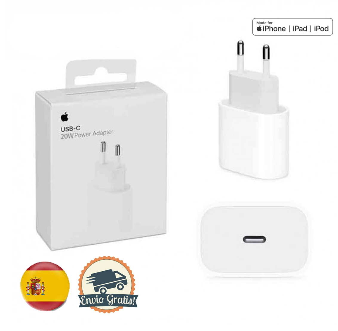 3-PACK Pared Enchufe Movil Adaptador Replacement para iPhone 12// 12 Pro// 12 Pro Max //11 // Xs Max XR X 8 Plus Google Pixel 3//2//XL Samsung AirPods Pro iPad Pro 20W Carga R/ápido USB C Cargador