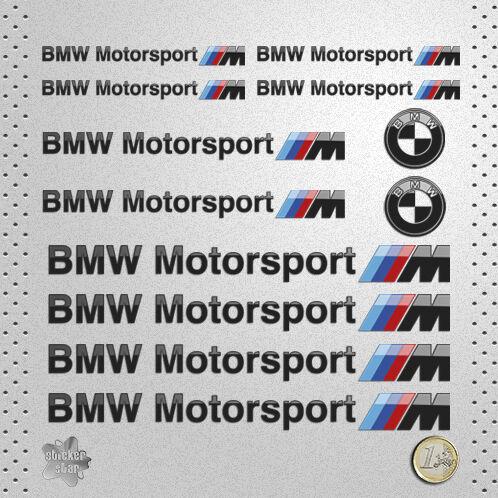 STICKER BMW MOTORSPORT SERIE M PEGATINA DECAL AUTOCOLLANT AUFKLEBER ADESIVI  貼紙