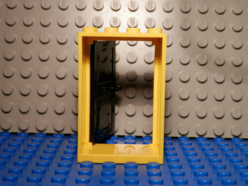 Lego Legos Set of Two NEW YELLOW Frame 2x4x5 with BLACK Door