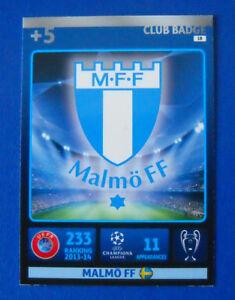 CARD-ADRENALYN-CHAMPIONS-LEAGUE-2014-15-N-18-MALMO-CLUB-BADGE