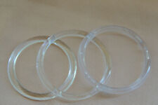Retail Store Clear Acrylic Rings Scarf and Belt Hangers x38 lot.
