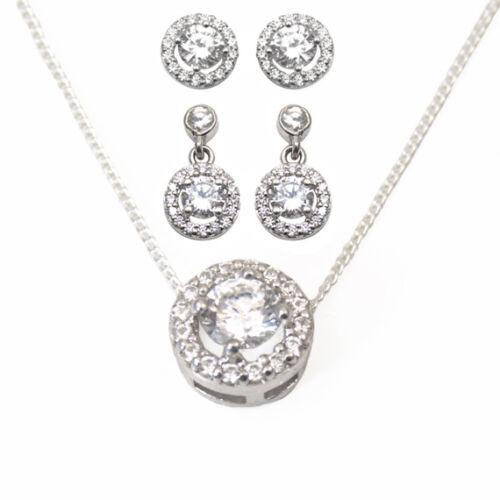 Earrings Diamond Unique Halo Sterling Silver Rhodium Platinum
