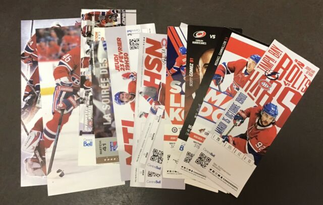 NHL Hockey Montreal Canadiens Ticket Stubs Lot (16) Cards