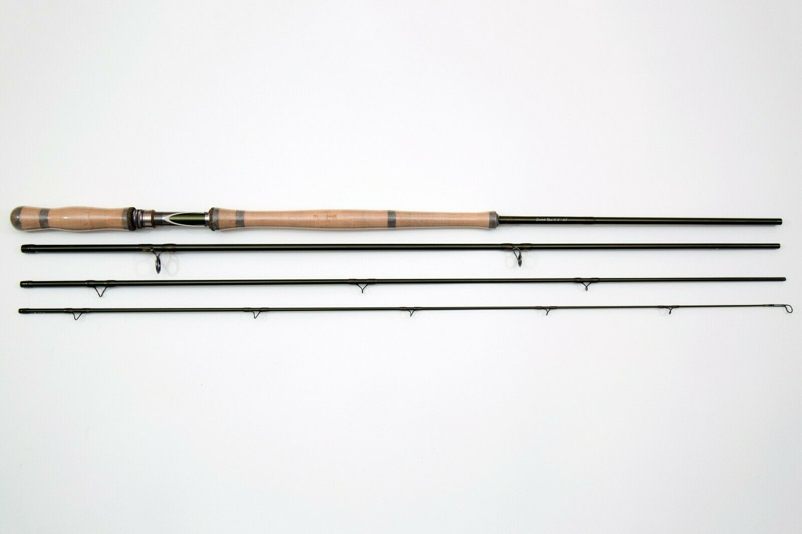 Fishoot Fly Fishing Rod 11ft 6  Med Fast Action Switch with 4 Poly Leaders