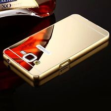 Aluminum Metal Mirror Case PC Back Cover Skin For Samsung Galaxy Various Phone