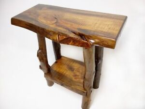 Details About Rustic End Table, Night Stand, Live Edge End Table, Wood  Table, Live Edge Table