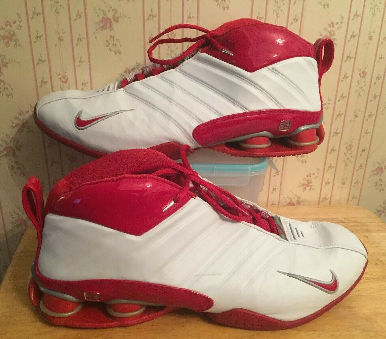 Nike Shox Supremacy PR 2003 shoes Vince White Varsity Red SZ 14