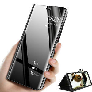 Flip-Mirror-View-Case-Cover-for-Xiaomi-Mi-A2-Lite-Premium-Stand-Leather-Magnetic